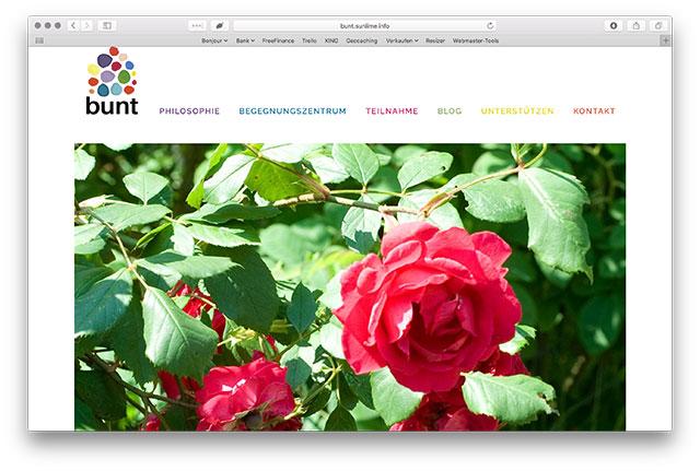 Printscreen von Startseite